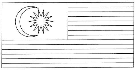 Bendera Malaysia - Gambar Mewarna | Colouring Picture