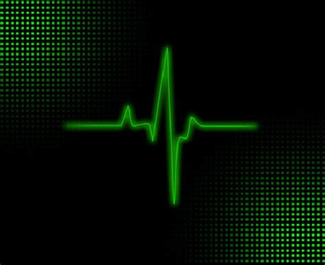 Heart with EKG Lines