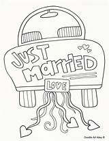 Coloring Doodle Married Alley sketch template