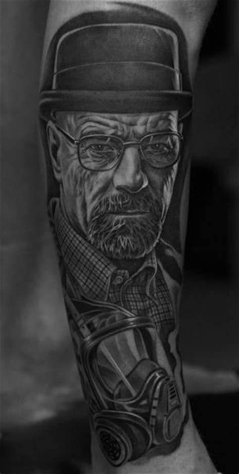 Arm Gas Mask Breaking Bad Walter White Tattoo by Jun Cha