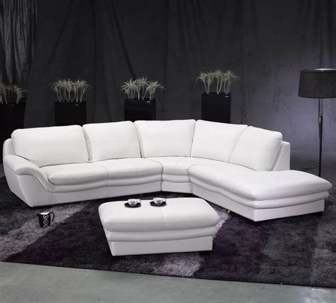 Cheap White Leather Sectional Sofa