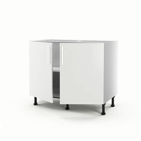 meuble de cuisine suspendu meuble de cuisine bas blanc 2 portes délice h 70 x l 100 x