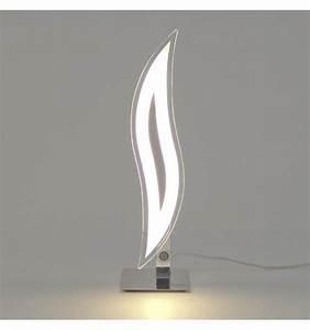 Lampe à Poser Design : lampe poser design chrome led flama ~ Teatrodelosmanantiales.com Idées de Décoration