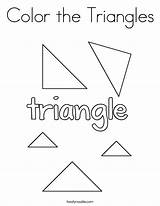 Triangle Template Coloring Triangles sketch template
