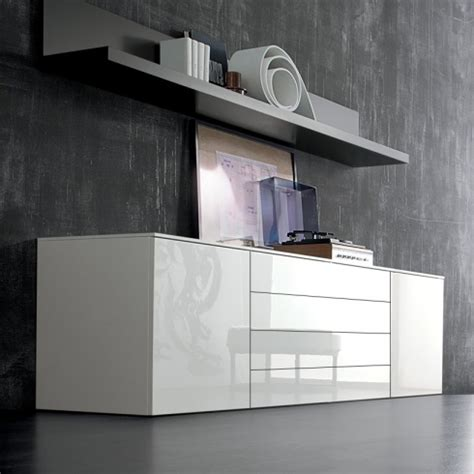High Gloss Sideboards Uk by Space White Large High Gloss Sideboard 240cm