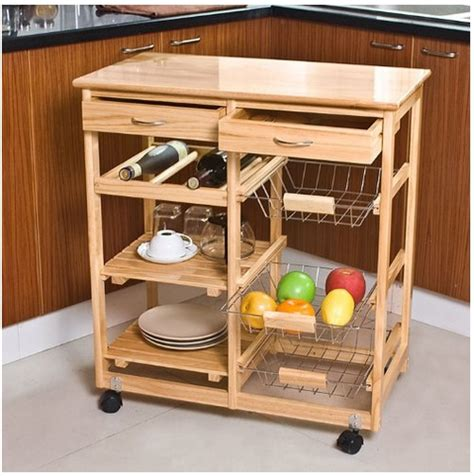 wooden kitchen storage trolley sles of kitchen carts on wheels designs homes 1647