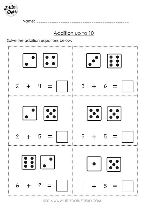 free addition worksheet suitable for kindergarten or grade