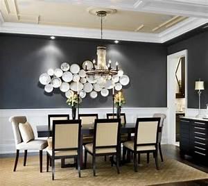 peinture salle a manger 77 idees charmantes gris fonce With salle a manger mur gris