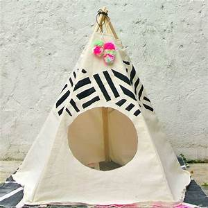 striped pet tipi by pup tart handmade notonthehighstreetcom With dog and teepee