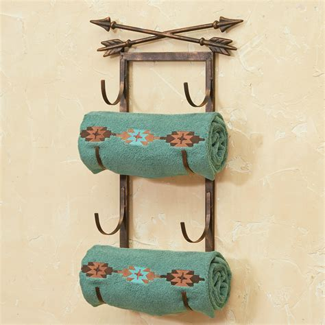 Metal Arrow Wall/Door Mount Towel Rack