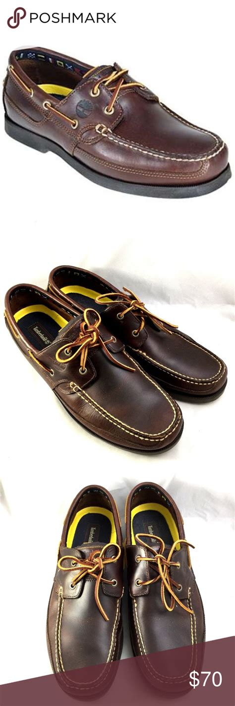 Size 14 Boat Shoes by Timberland Kia Wah Bay Boat Shoes Leather Brown 14