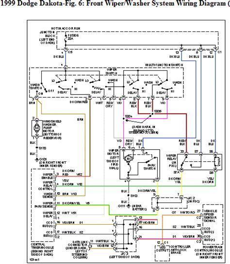 need color coded wiring diagram for 1999 dakota w tilt