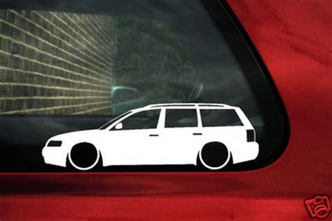 2x low vw passat b5 estate wagon 1 8t 20v turbo v5 outline silhouette stickers