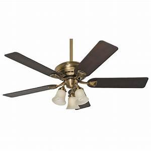 Hunter bixby in indoor antique brass ceiling fan
