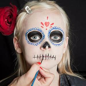 Braut Make Up Selber Machen : halloween kinder schminken d a de los muertos make up ~ Udekor.club Haus und Dekorationen