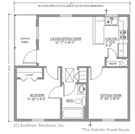 small guest house floor plans small guest cottage plans