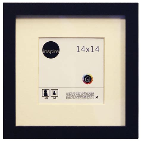 cadre lario 14 x 14 cm noir noir n 176 0 leroy merlin