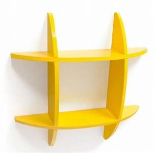 Etagere Murale Jaune : tag re cube murale biblioth que jaune achat vente meuble tag re tag re cube murale jaune ~ Teatrodelosmanantiales.com Idées de Décoration