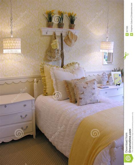 girls bedroom stock photo image  decor room book