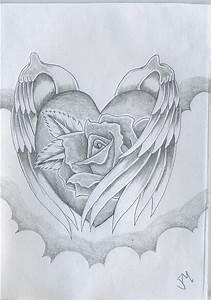 Wings Of Love Drawing by Justin Murdock