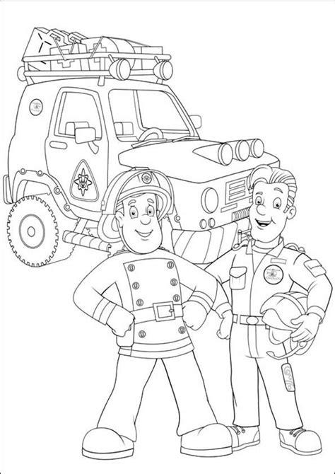 Ausmalbilder Feuerwehrmann Sam 06  Ausmalbilder gratis