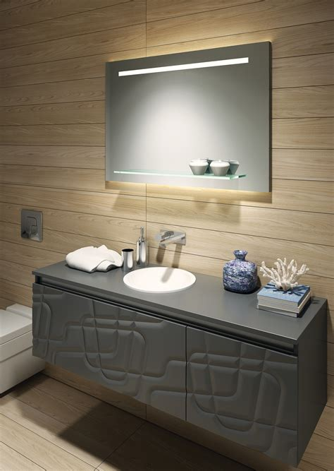 Bathroom Mirror With Shelf And Light by Fusion 100 Illuminated Led Bathroom Mirror With Shelf B004709