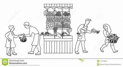 Stall Farmers Produce Selling Vegetables Vendite Producono