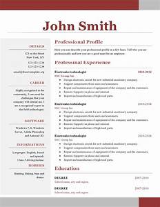 One page resume template learnhowtoloseweightnet for Free resume layout