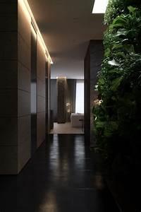 Luxurious, Apartment, Design, With, Sexy, Dark, Interior, Style