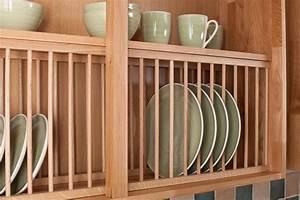 Oak Plate Rack Wood Kitchen Racks Solid Cabinets DMA