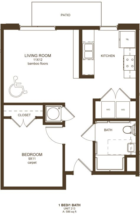 One Bedroom Apartments Richmond Va by Downtown Richmond Va 1 Bedroom Apartments Floor Plans
