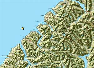 A Map Of Fiordland Which Is In The South West Of New