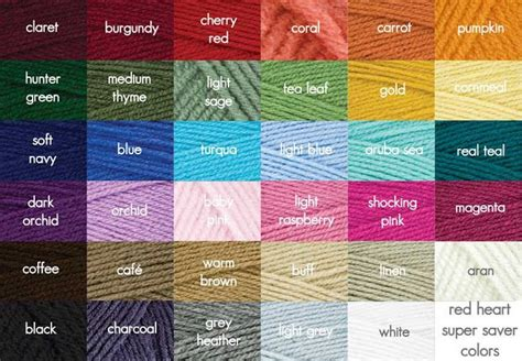 yarn color chart pin by the modern knit on yarn yarn colors