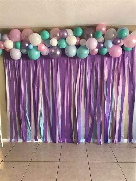 Background Decorations by Unicorn Back Drop Birthday Backdrop Pastel Colors