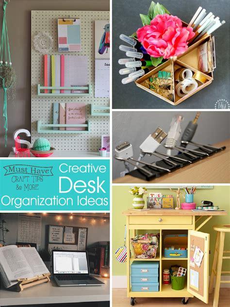creative desk organization ideas the scrap shoppe