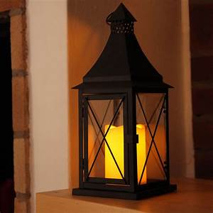 Laterne Kerze Draußen : laterne led farbe schwarz 1 kerze 37 cm x 14 cm ~ Watch28wear.com Haus und Dekorationen