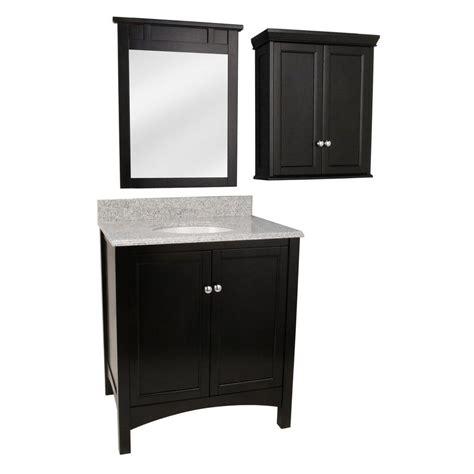 foremost 31 in vanity in espresso with granite