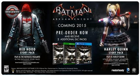 gamestop batman arkham knight pre order bonus