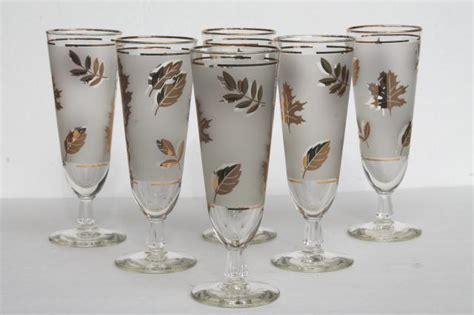 tall pilsner lager beer glasses vintage libbey glass