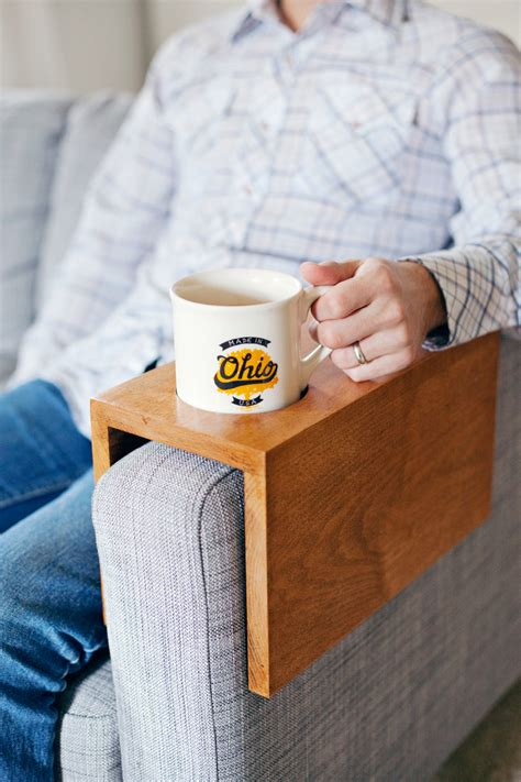 wooden sofa sleeve  cup holder  beautiful mess