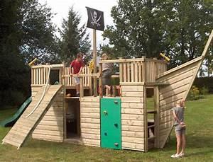 Pirate Ship Play House Design Adding Fun to Kids Backyard