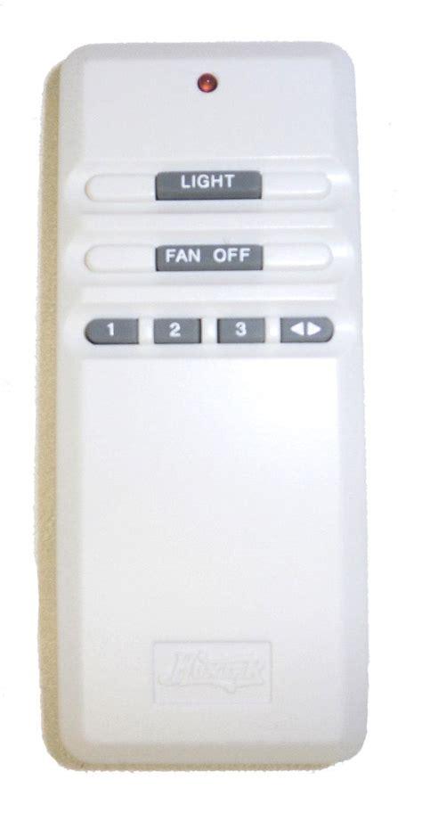 model 07652 01000 fan light remote control hunter ceiling