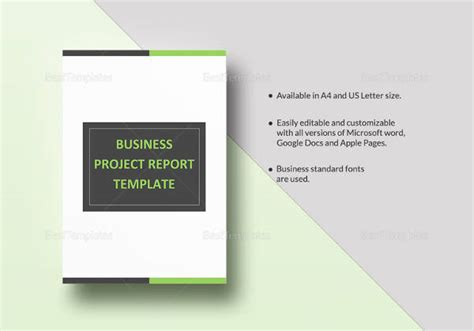 project report templates  ms words apple pages