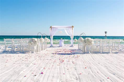 Real Destin Beach Wedding And Reception