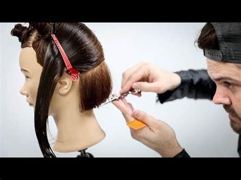 cutting  bob haircut  horizontal