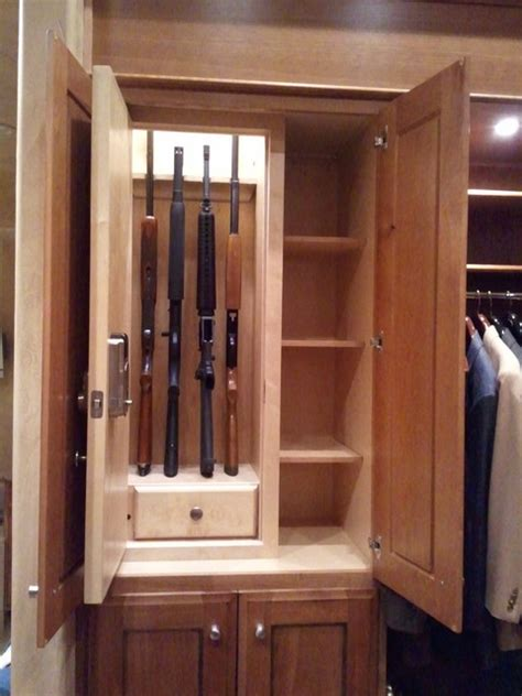 Magnetic Lock For Cabinets by Stealth Shotgun Rifle Locker Traditional Closet