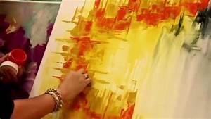 Como pintar un cuadro abstracto Gabriela Mensaque Artistica Monitor YouTube