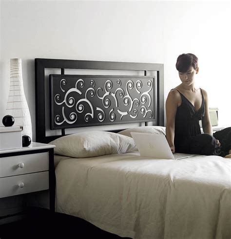 hauteur meuble cuisine tête de lit acier design aronase 5862