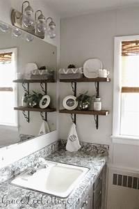 Grace, Lee, Cottage, Diy, Rustic, Bathroom, Shelves