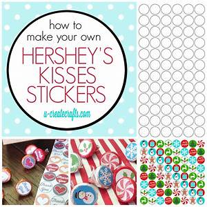 How to make hershey kisses stickers for How to print your own labels